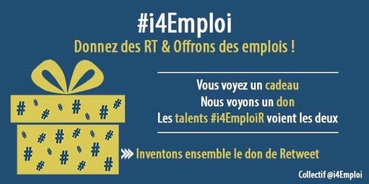 i4emploi pour trouver un job sur twitter